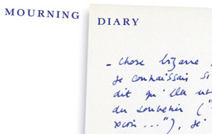Roland Barthes: Mourning Diary
