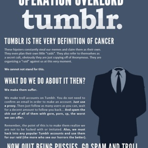 4chan's /b/ Users Declare War on Tumblr after Tumblr Faction Begins Organizing 'Raid' on 4chan