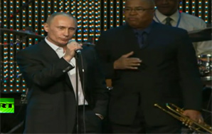 "Vladimir Putin Fights Cancer by Singing ""Blueberry Hill"""
