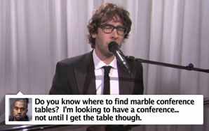 "Josh Groban's Hysterical ""The Best Tweets of Kanye West"""