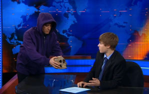 Justin Bieber and Jon Stewart Do Unexpected Things Together On The Daily Show