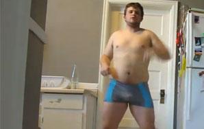 Half Naked Man Shows Us His Self-Defense Moves