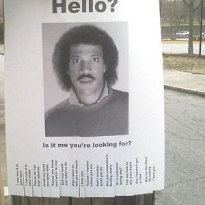 Did You Lose Lionel Richie?