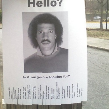 Did You Lose Lionel Richie?