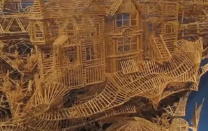 Man Unveils Interactive Toothpick Sculpture of San Francisco That Took 35 Years to Create