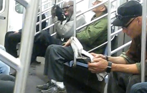 Shoe-Licking Man Appears in NYC Subway Train