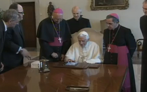 Here Is Your Video Of The Pope Tweeting His First-Ever Tweet On AniPad