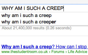 Why Everyone Needs To Just Accept That They're A Giant Creeper On The Internet