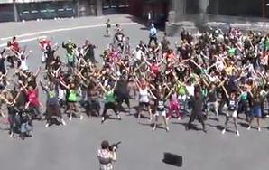 It's Not Unusual! Here's A 'Carlton Dance' FlashMob!