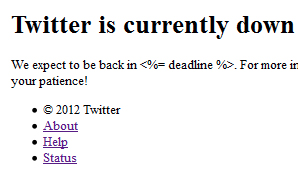 Today Twitter Was Down