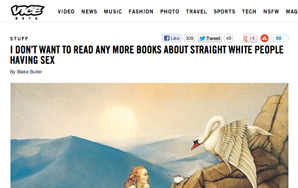 I Don't Want to Read Any More Literary Or Cultural Criticism By BlakeButler