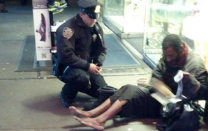 Heartwarming: NYPD Officer Buys Homeless Man Shoes