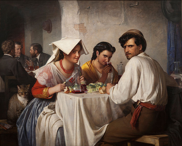 Carl Bloch: In a Roman Osteria
