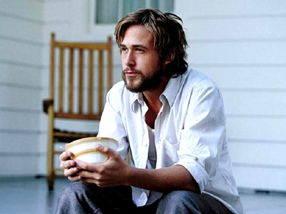 Hot, yet especially considering this rather unfortunate Depression Scruff, not nearly JGL hot. The Notebook