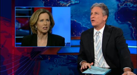 Watch Jon Stewart Make Fun Of Women In Military Opponents