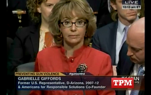 Watch Gabby Giffords' Moving Statement At Today's Gun Violence Hearing