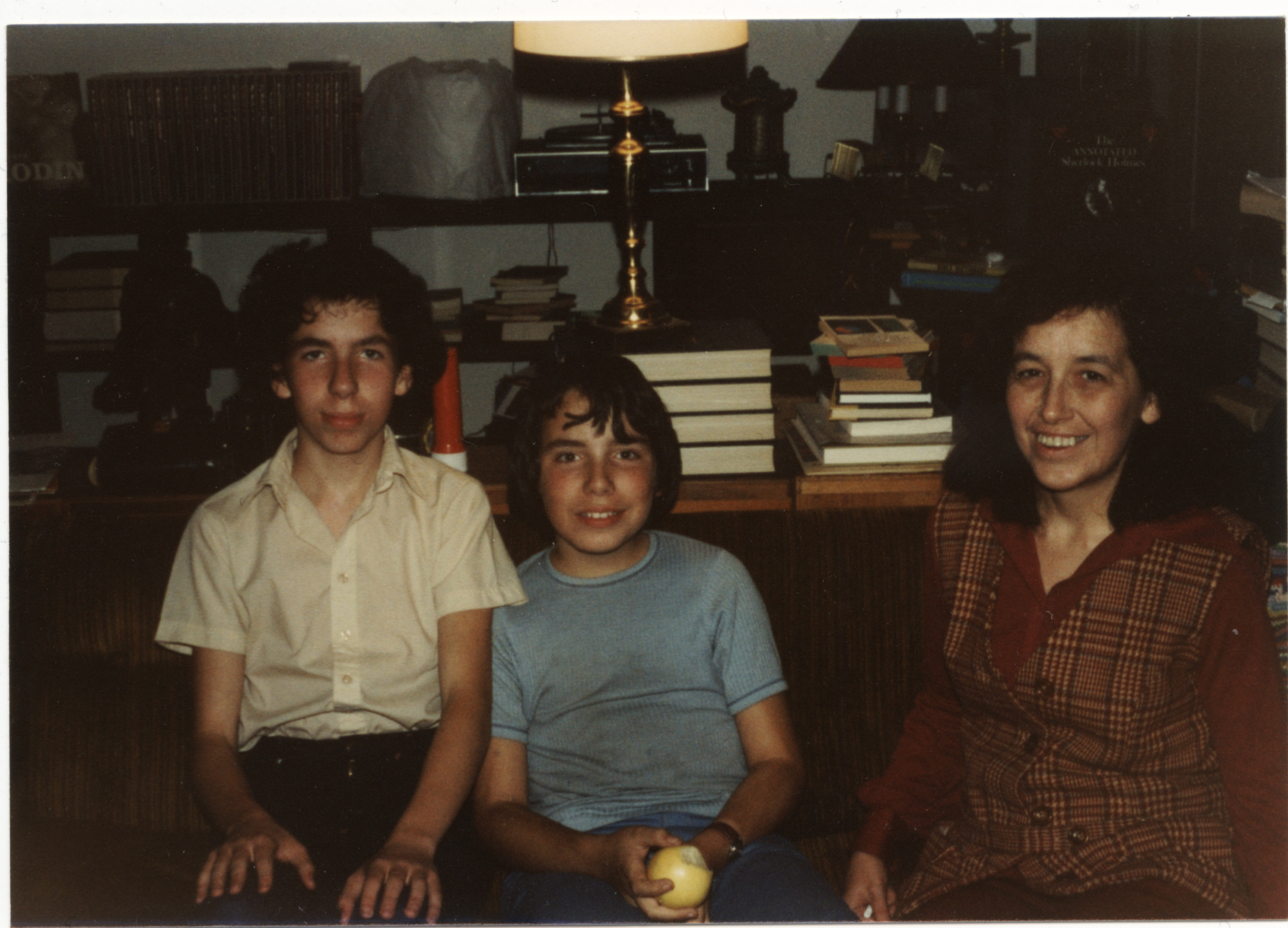 My brother Dave, me and Mom at the house in Santa Clara