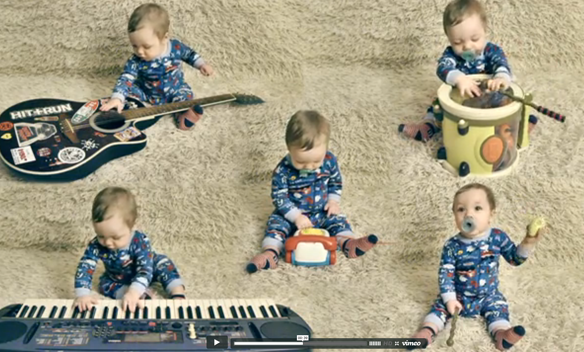 One Baby Band: 9-Month-Old Plays Every Instrument