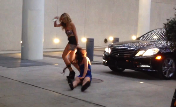 Classy Drunk Girl Manhandles Her Classy Drunk Friend Outside A Post-Grammy Party