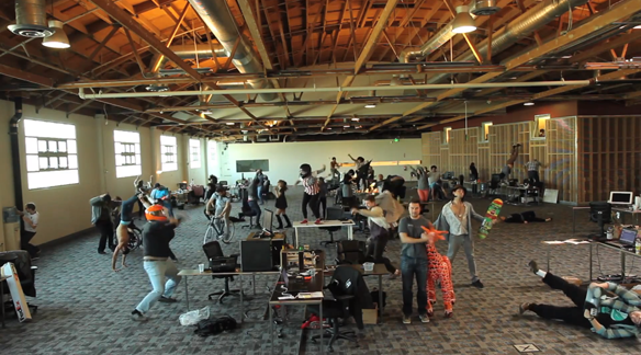 "Watch An Entire Office Dance ""The Harlem Shake"""