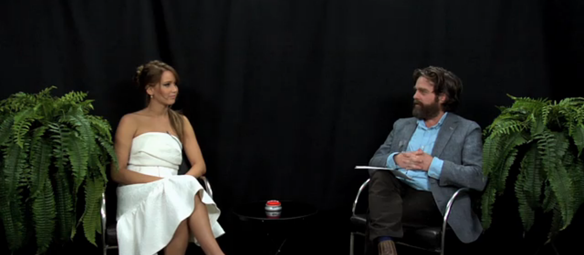 """Zach Galifianakis's Hilarious """"Between Two Ferns"""" Show Is Back With Jennifer Lawrence And More"""