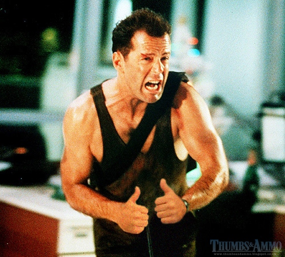 Lol. Movie Characters With Their Guns Replaced By Thumbs.