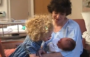 Adorable Young Girl Gives Newborn Sister Existential Affirmation