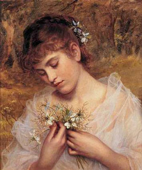 """""""Love In a Mist,"""" Sophie Gengembre Anderson"""