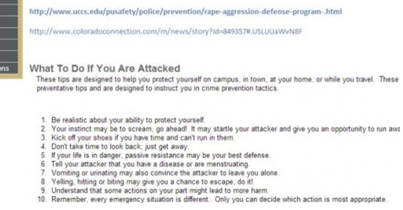 University Of Colorado's Tips To Avoid Getting Raped Are Idiotic And Offensive