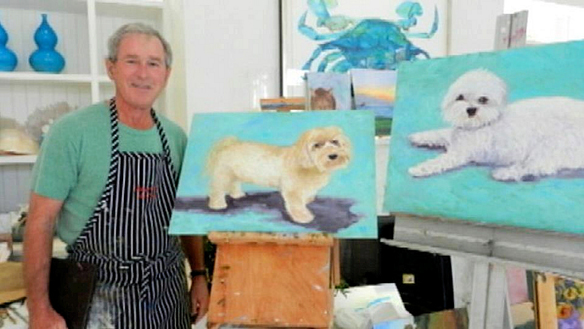 George Bush Vs. A 7-Year-Old: Who's A Better Artist?