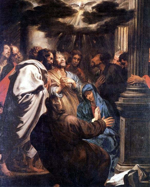 Die Ausgießung des Heiligen Geistes - Anthony van Dyck
