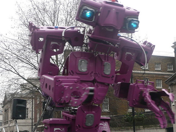 Robot in London's New Year's Parade, Jon Curnow