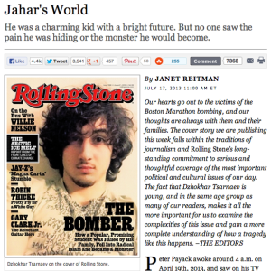 Should We Be Mad About The Boston Bomber On The Cover Of 'Rolling Stone'?