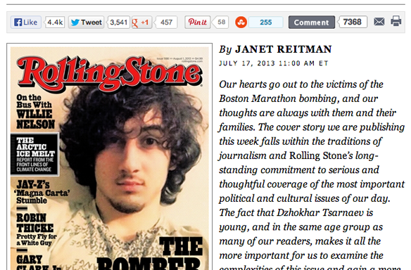 Should We Be Mad About The Boston Bomber On The Cover Of 'RollingStone'?