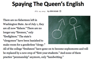 """In Response to """"Spaying The Queen's English"""" and the Goading of Jim"""