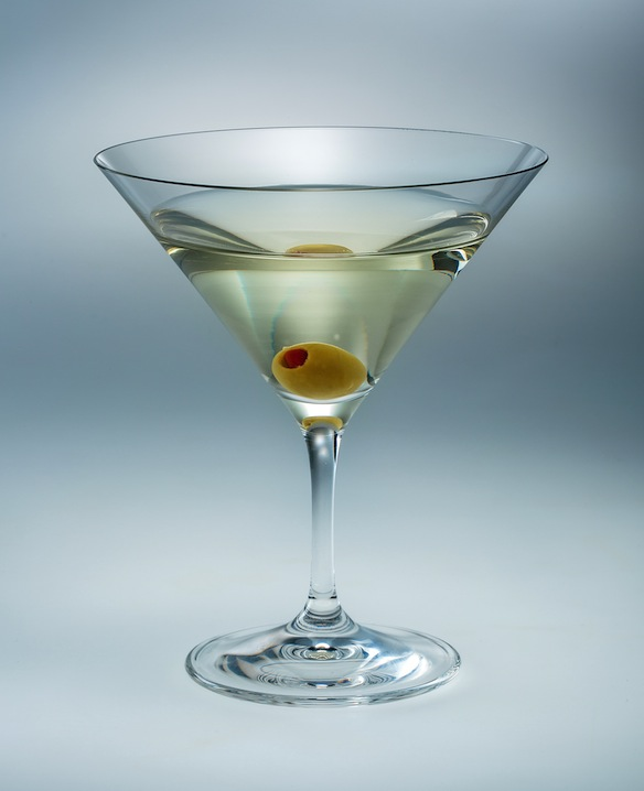 The martini glass is not just a symbol of cool: it literally trains you to be cool.  Keep it together, son, it whispers as you get increasingly lit.  (image via Shutterstock)