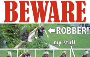 Woman Steals Amazon Package From Doorway Of World's Most Hilarious, Sarcastic Victim