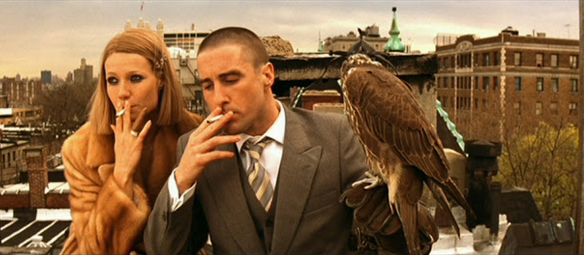 If you watch carefully, you can tell this is a different hawk than used at other times, The Royal Tenenbaums