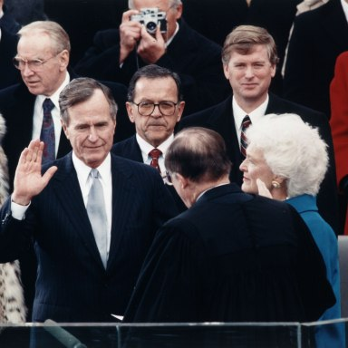 George Bush Serves As Witness In Lesbian Marriage, Seriously