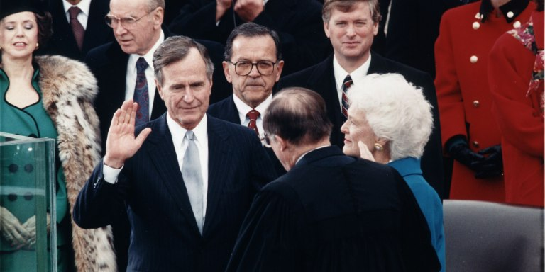 George Bush Serves As Witness In Lesbian Marriage,Seriously