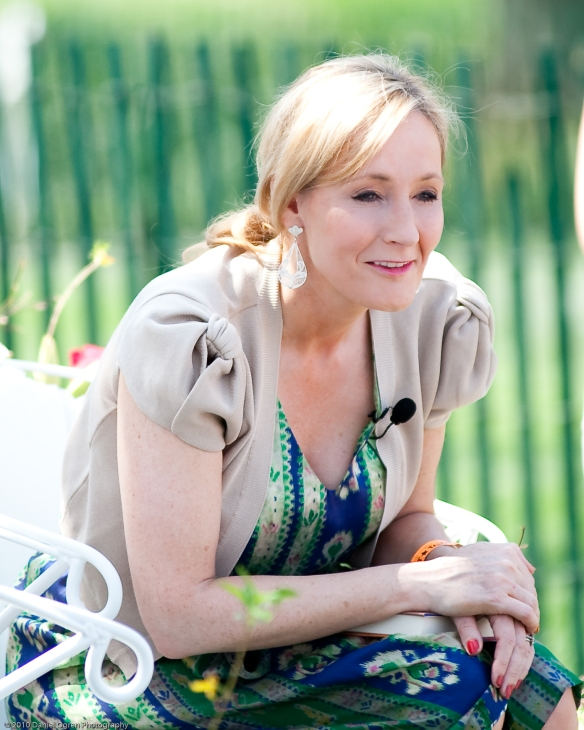 J.K. Rowling, photo via Daniel Ogren