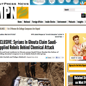Father of Dead Syrian Rebel – Rebels Used Chemical Weapons By Accident