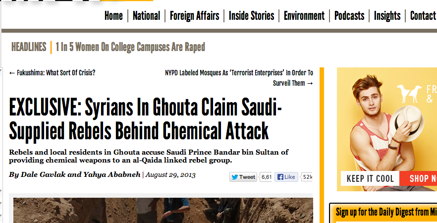 Father of Dead Syrian Rebel – Rebels Used Chemical Weapons ByAccident