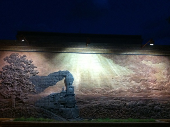 Brick mural by Jay Tschetter. Lincoln, NE.
