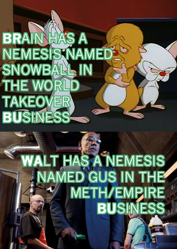 Magnificent Similarities Between Breaking Bad & Pinky And The Brain