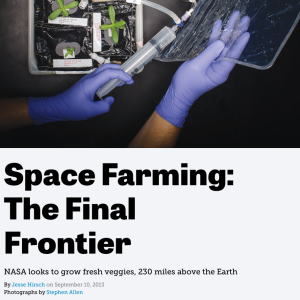 Growing Food In Space: It's Not So Science Fiction Anymore