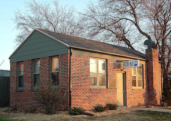 The first Pizza Hut, at Wichita State University. Via Sanjay Ash