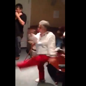 Watch This Grandma Hi-Kick And Gut Punch On Xbox Kinect
