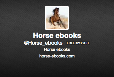 Can You Tell? Horse_ebooks Or Gertrude Stein?