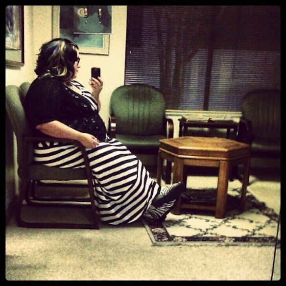 Me and my fatness, just chilling in a waiting room.